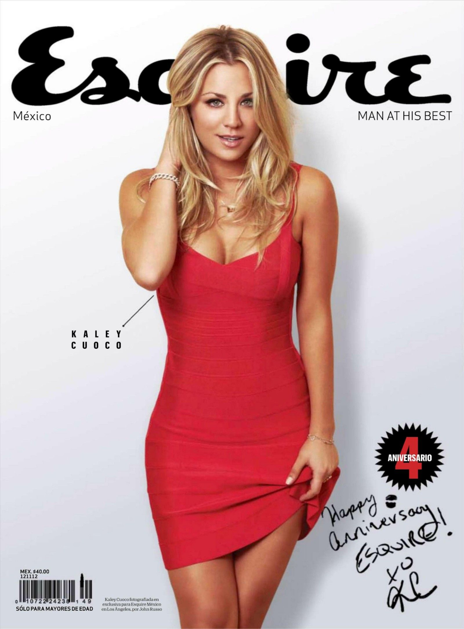 kaley cuoco esquire 2012