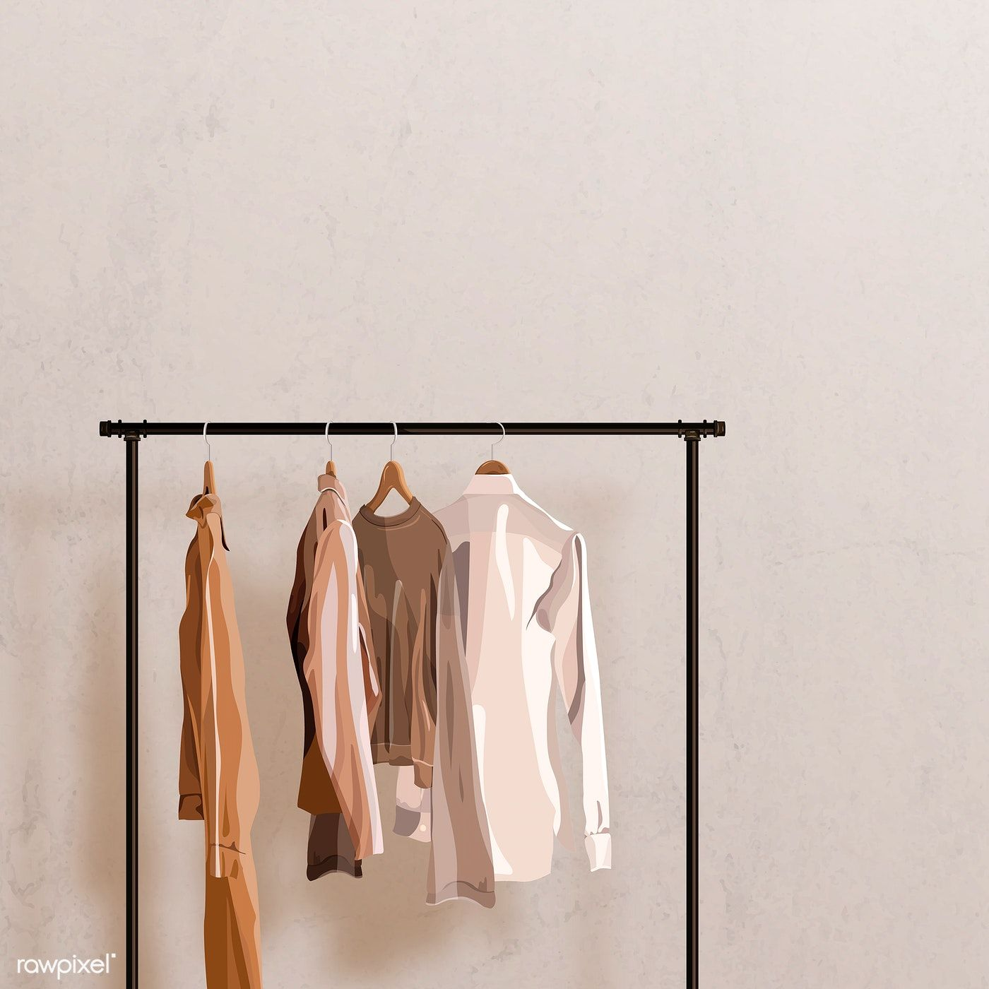 Cloth Hanging On The Rack Vector Free Image By Rawpixel Com