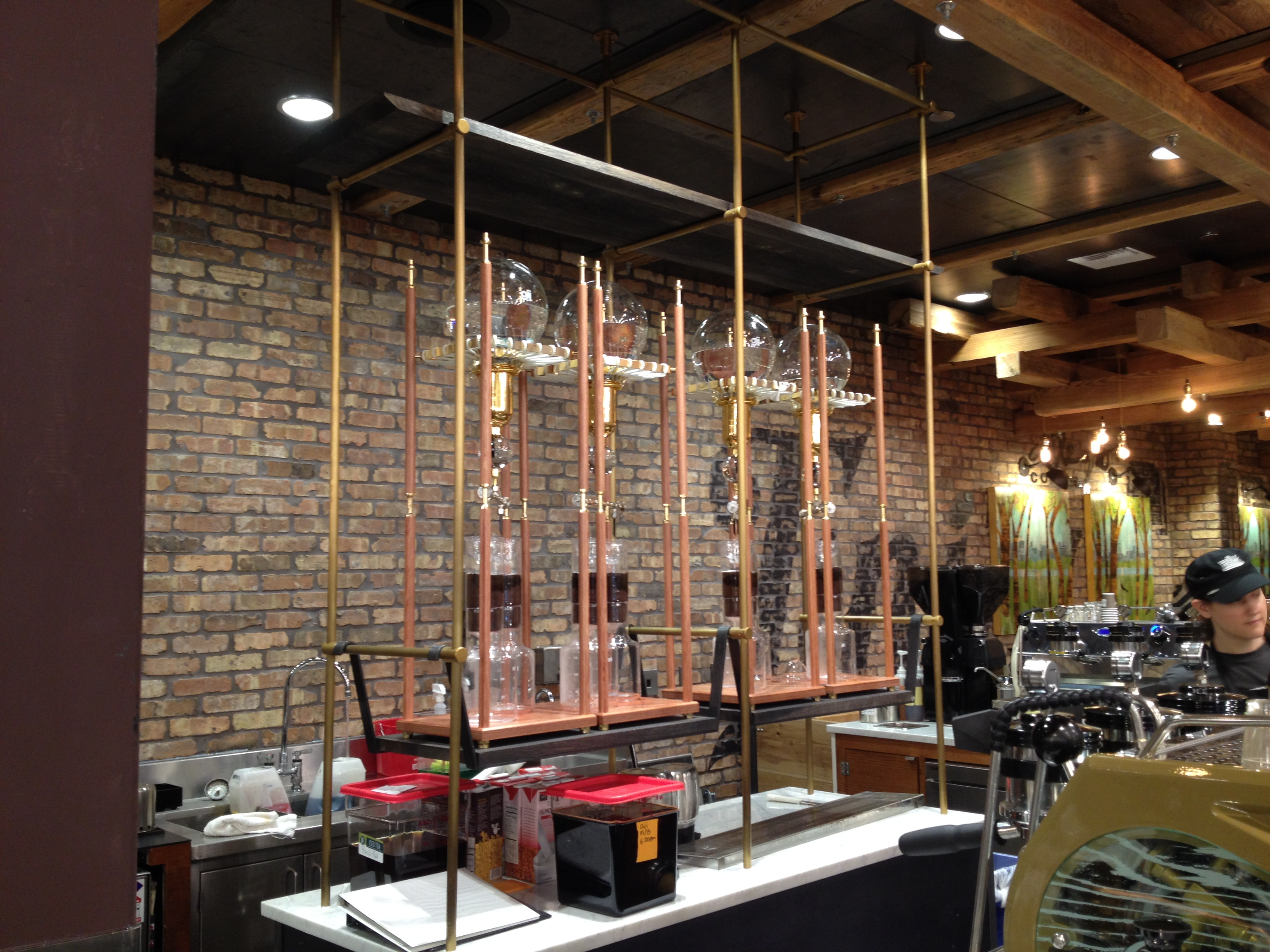 The Whole Foods Domain coffee bar features Japanese Oji water drip ...