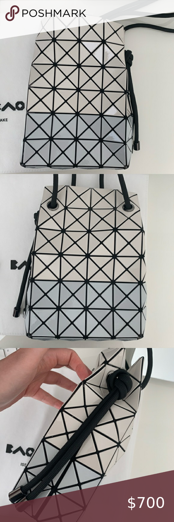 Bao Bao Issey Miyake Wring Bi Color Shoulder Bag Shoulder Bag Bao Bao Issey Miyake Issey Miyake