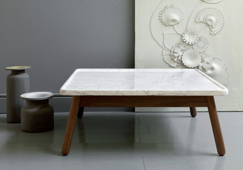 Bethan Gray, formerly head of furniture and design at Habitat (while it was still good), set up her own studio a few years ago and now designs for a number of retailers including John Lewis.  This marble and oak table is from one of her side projects, grayandturner.