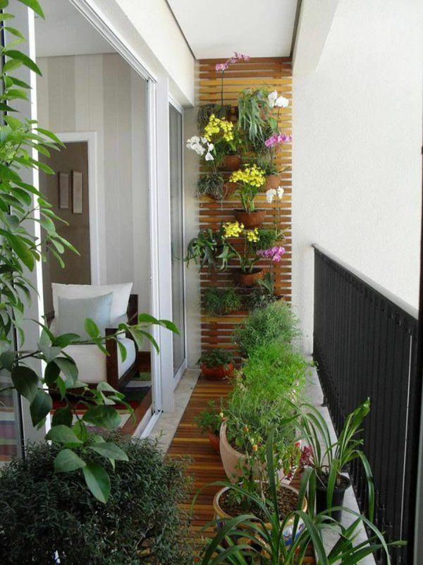 holzdielen balkon bepflanzen balkonideen 室内造景 Pinterest - terrasse blumen gestalten