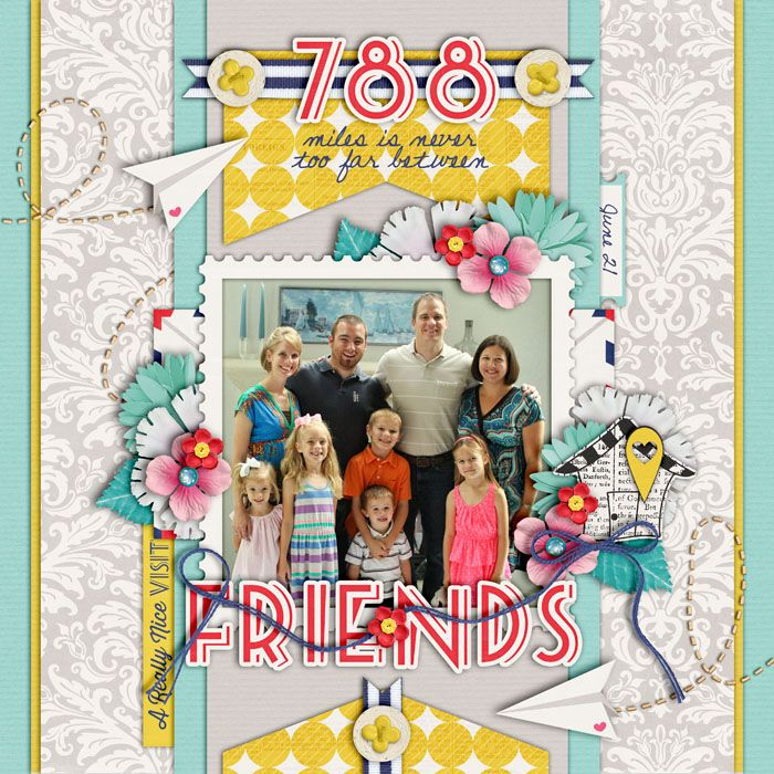 788 miles  sweet shoppe gallery  scrapbooking layouts