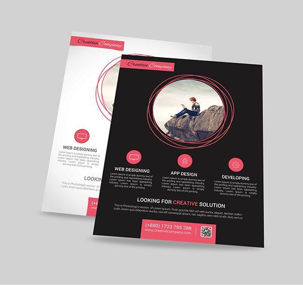 modern web app design agency flyer poster on behance flyer