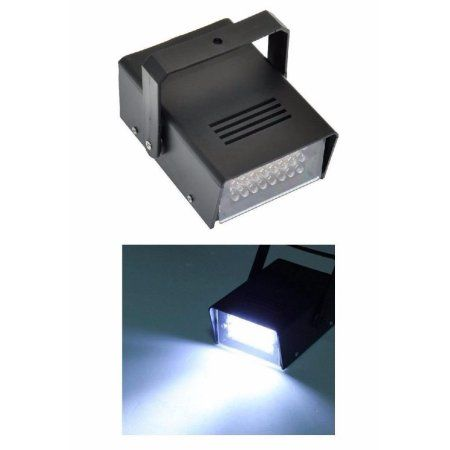 Strobe Light Walmart Alluring Lightahead Mini Led Strobe Light With 24 Super Bright Leds Mini Dj