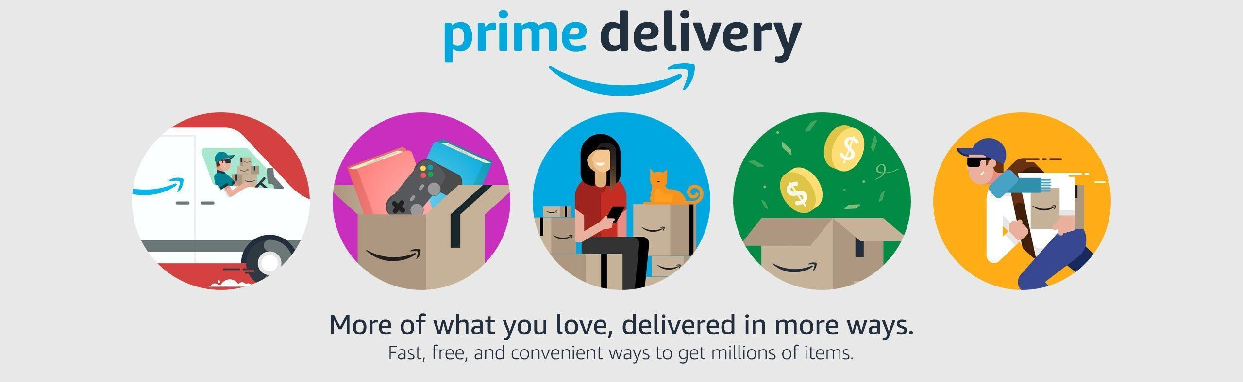 Prime Delivery Fast Free And Convenient Delivery Choices On Millions Of It Https Www Amazon Com Amazon Prime Day Deals Amazon Prime Day Prime Delivery