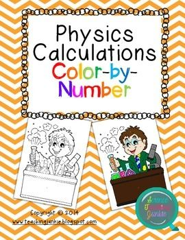 Physics Calculations ColorbyNumber Word problems