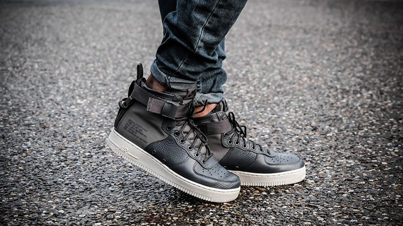 best loved fdddf ff2b8 NIKE SF AIR FORCE 1 MID - DARK GREY   LIGHT BONE LIMITED EDITION SNEAKERS