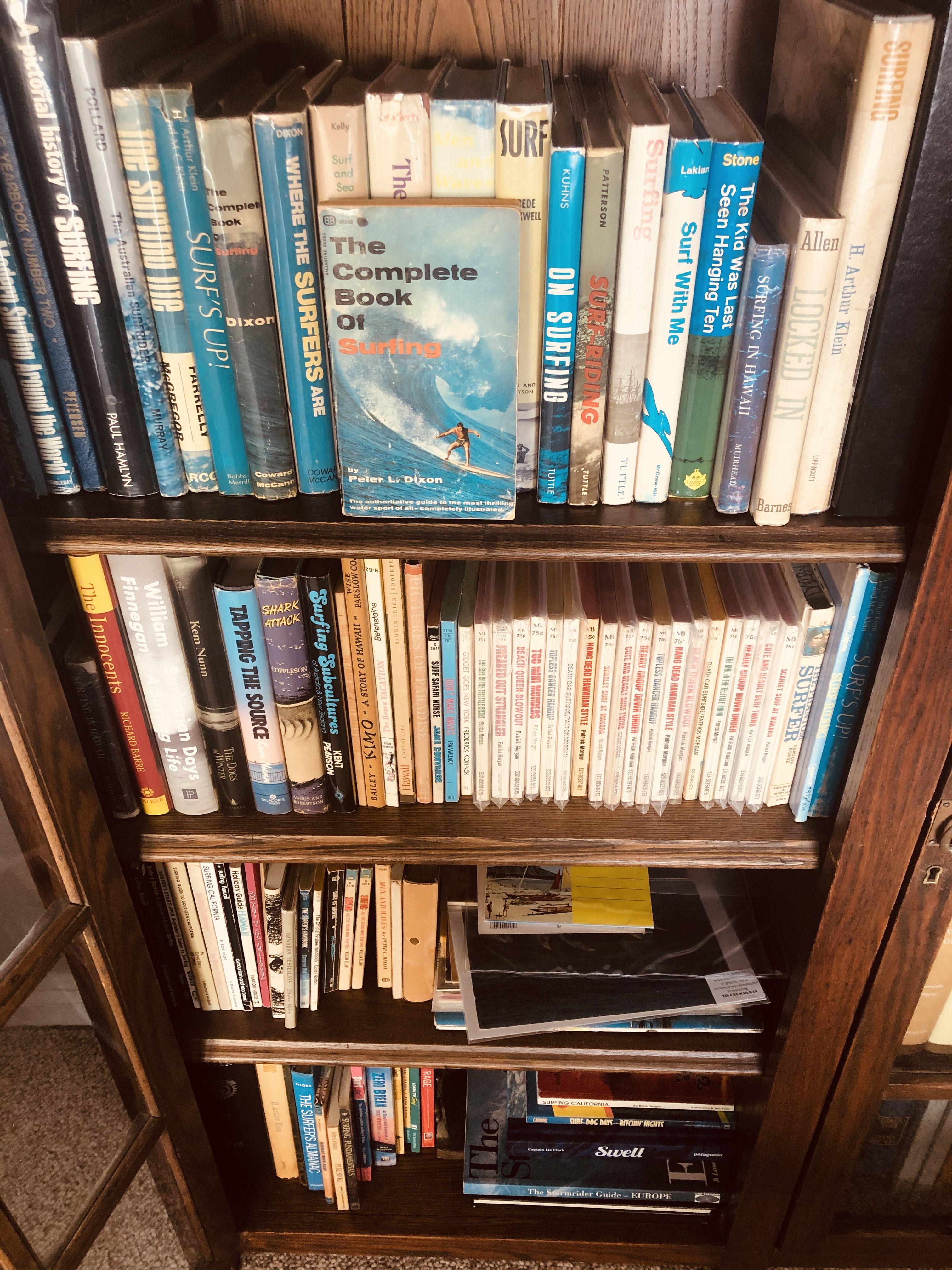 Surfing Books Bookcollection Bookshelves Bookshelf Surfing