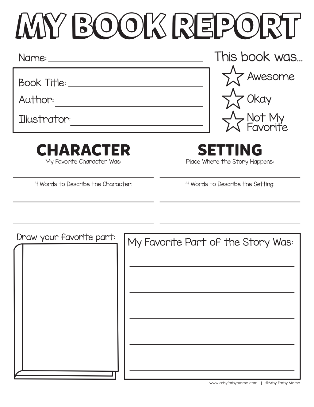 Book Report Template Pdf Google Drive Book Report 1st Grade Books 2nd Grade Books