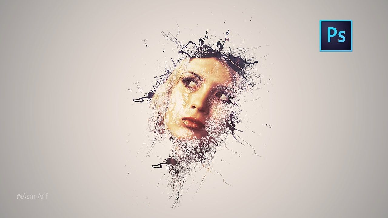 Photoshop Cc Tutorial Paint Splatter Ink Portrait Photoshop