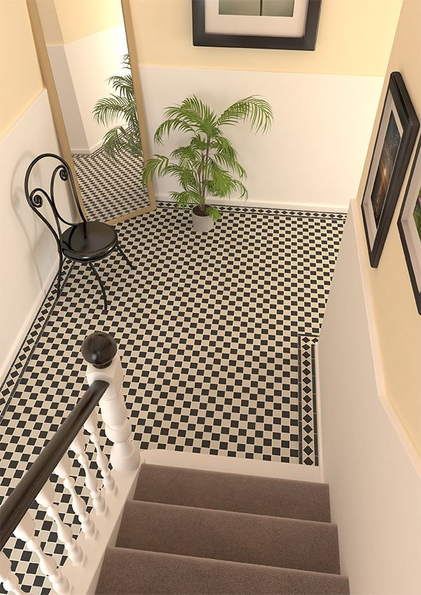 Create A Traditional Chequered Look With Victorian Black White