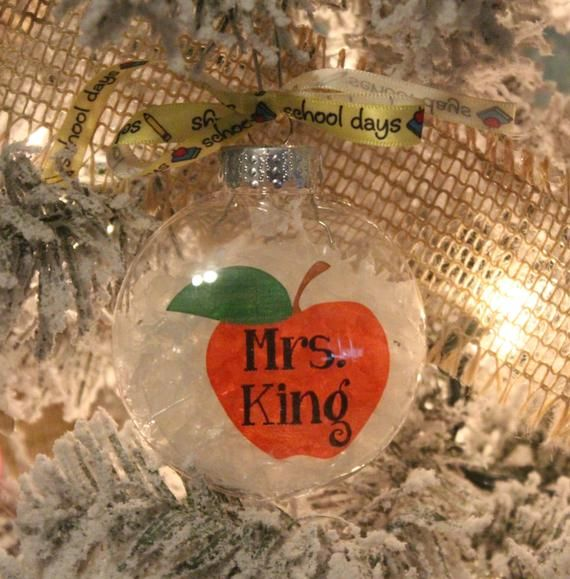Personalized Teacher Ornament - Teacher Appreciation - Teacher Ornament - Gift for Teacher - Teacher Thank You