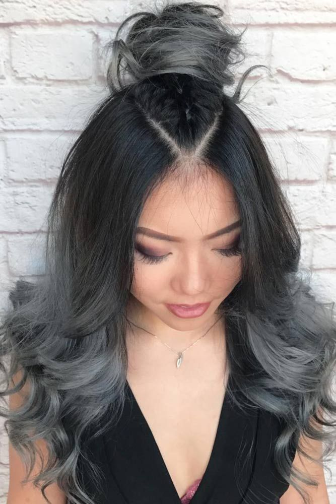 Image result for brown and grey hair   Grey ombre hair ...