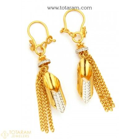 Gold Hoop Earrings Ear Bali in 22K Gold 235 GER7342 Buy this