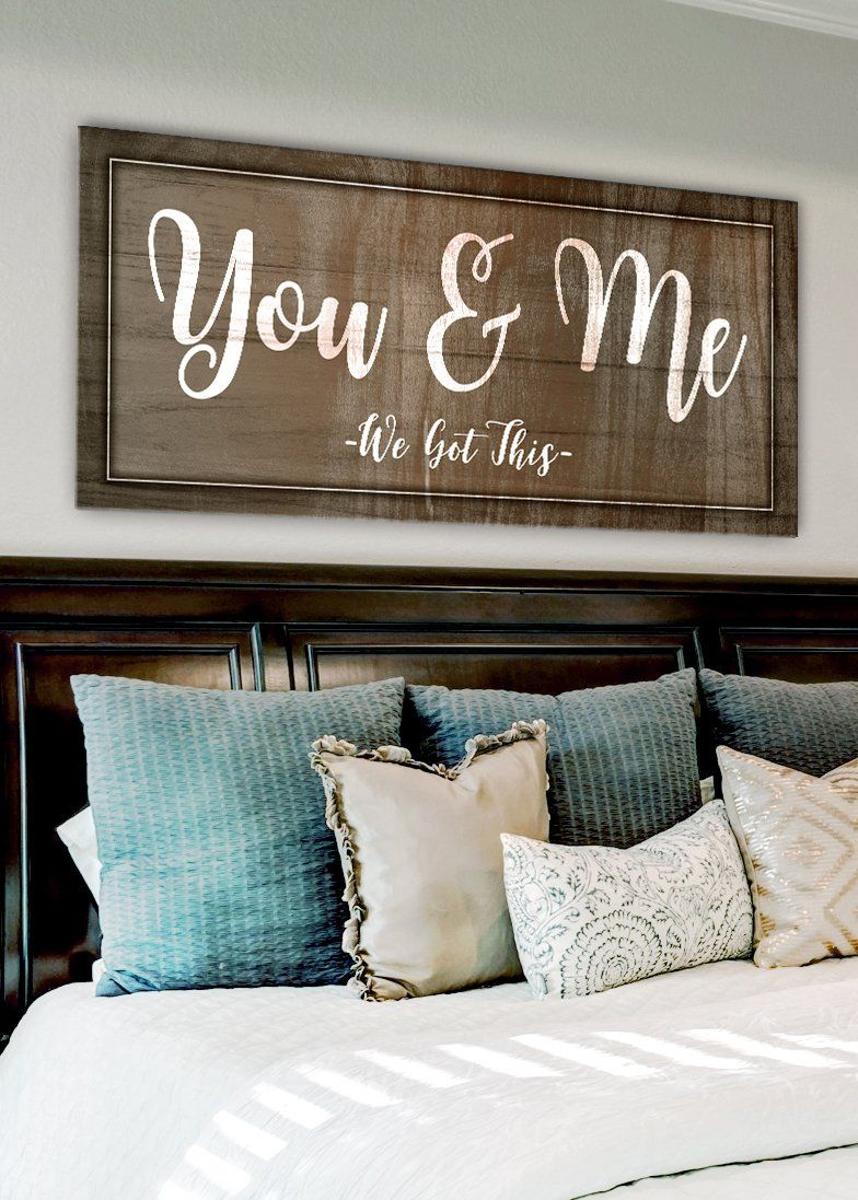 Couples Wall Art You Me We Got This Wood Frame Ready To Hang