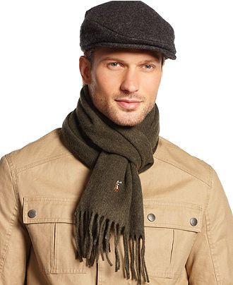6a2ea8c6 Polo Ralph Lauren Signature Scarf & Driver Cap - Hats, Gloves & Scarves -  Men - Macy's