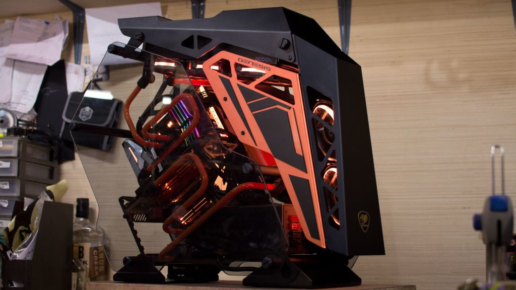 $6000 water cooled gaming pc build cougar conquer time lapse – Artofit