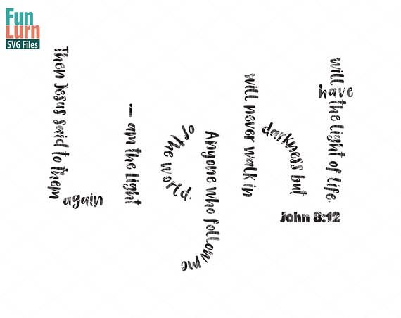 Download Light svg, John 8 12, I am the light of the world ...