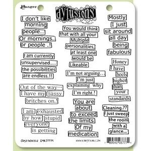 Dylusions Stamps - Say How it is