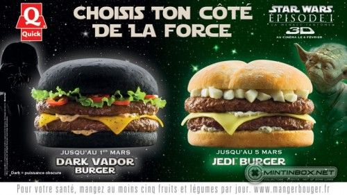 """""""Dark Vador"""" and Jedi Burgers coming to a French fast food vendor near you!"""