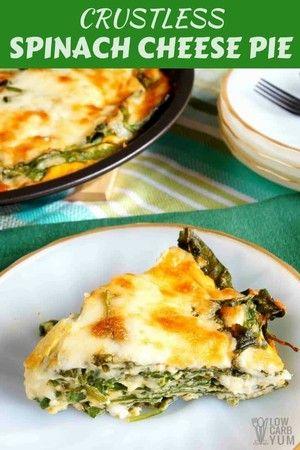 2sp crustless spinach cheese pie receta en 2019 weight watchers rh pinterest es
