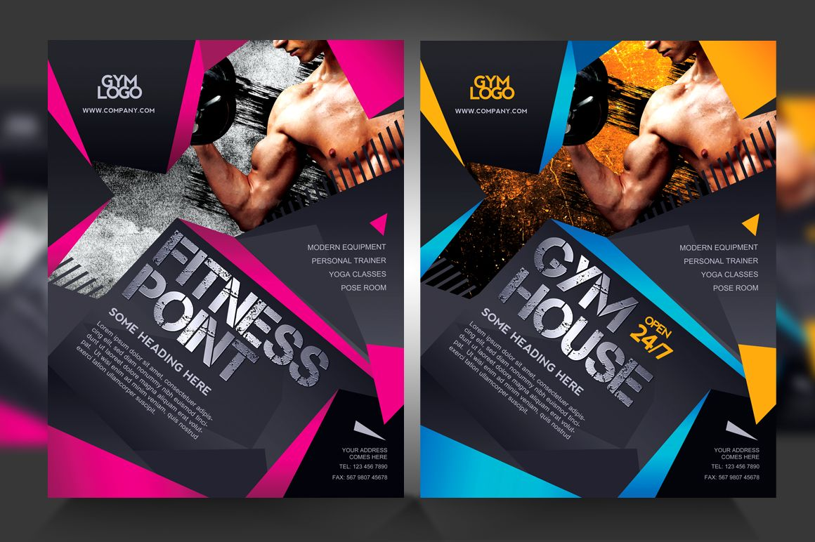 Fitness  Gym Flyer V  Flyers    Design Graphic    Gym
