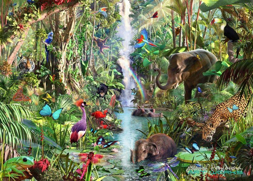 David penfound animals wildlife art paradise earth
