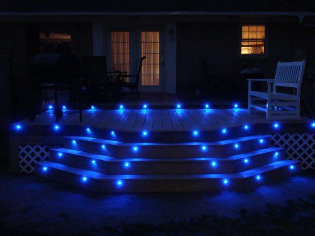 Blue led deck lights outdoor lightinglighting