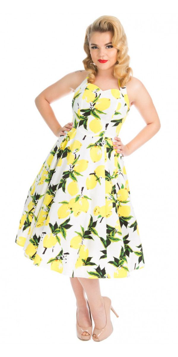 This Lemon Halter Dress Is Described As Flirty And Fruity