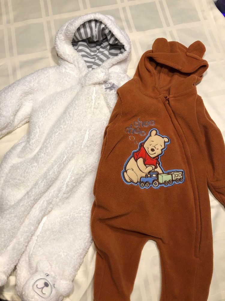 2beaf4065 Lot Of 2 Winter Baby Bunting Suits Carter s size 3M And Disney Baby ...
