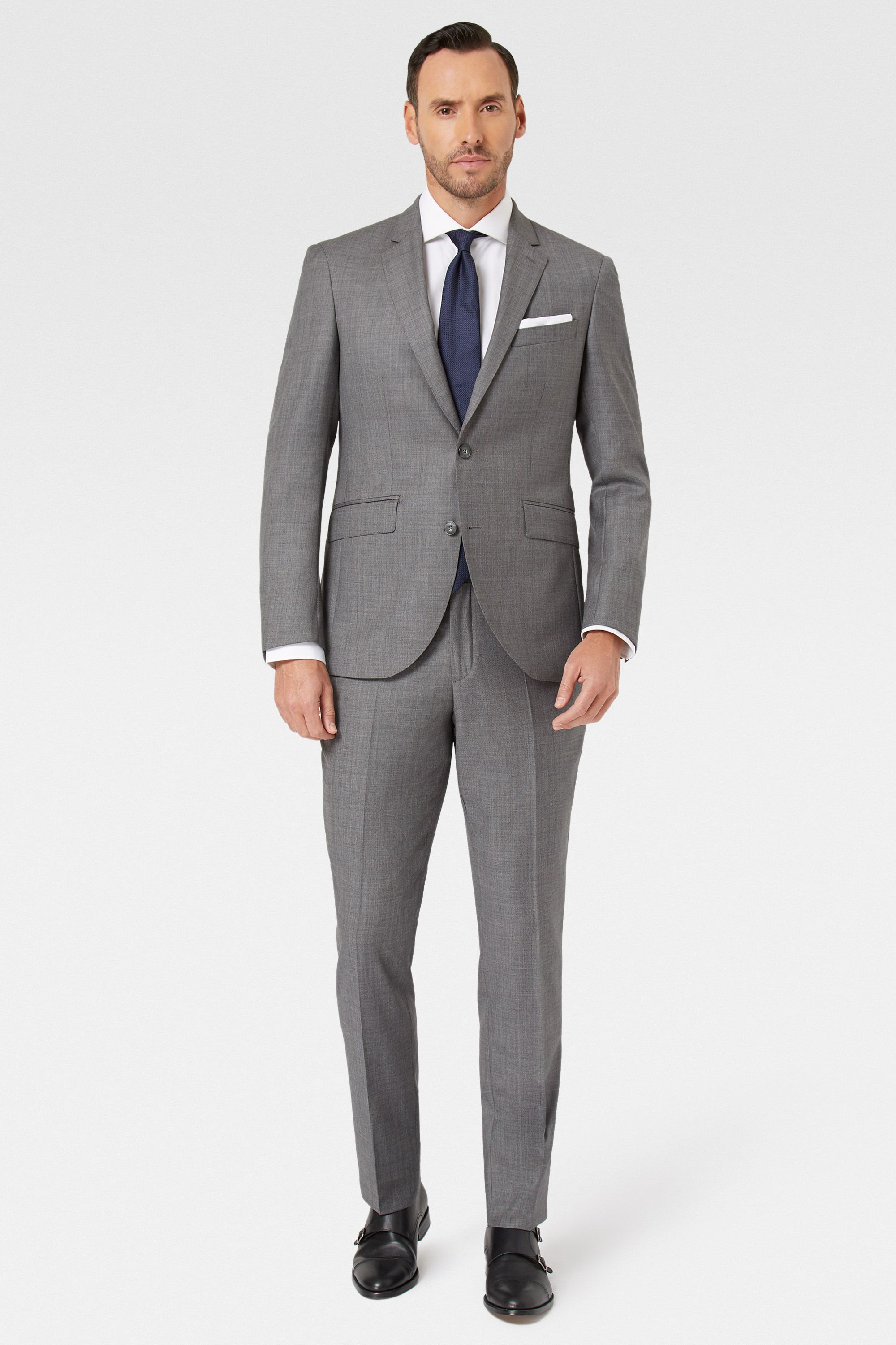 Costume gris mariage light grey suit wedding suit italian loro piana cloth and is finished in - Costume gris mariage ...