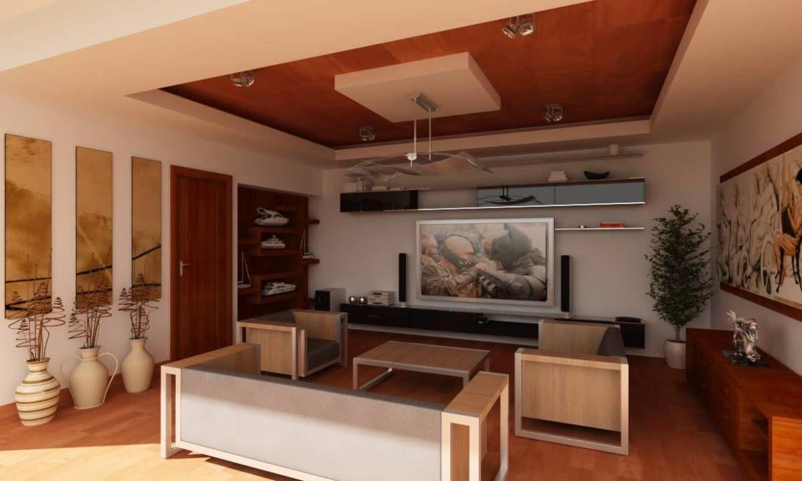 RESIDENCIA SINALOA: Salas multimedia de estilo Moderno por OLLIN ARQUTIECTURA