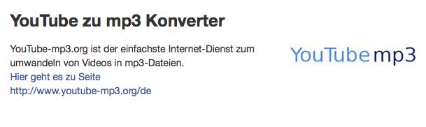 YouTube zu mp3 Konverter.