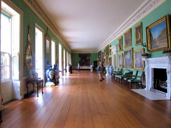 The long gallery at Osterley Park--a lovely place to stroll on a rainy day.