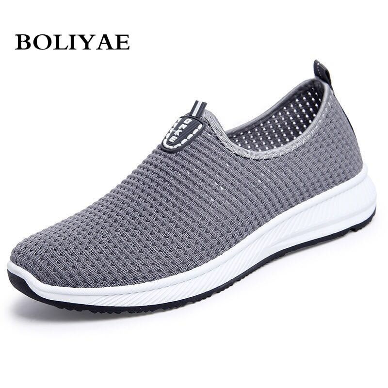 2019 Fashion Summer Sneakers Men Casual Shoes Light Breathable Sandals Outdoor Vacation Mesh Shoes Zapatos De Hombre Men Shoes