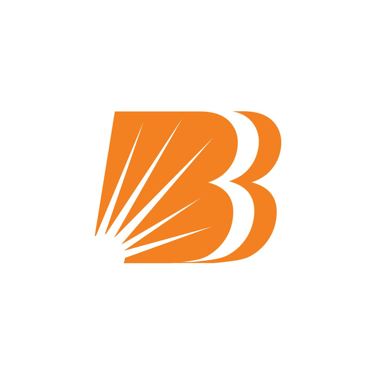 Bank Baroda Logo India Letter B Baroda Text Logo Design
