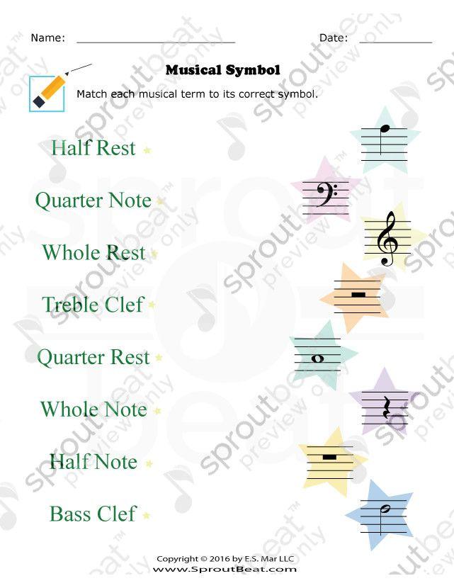 Tmta Level 1 Musical Symbols Keyboard Names Pinterest