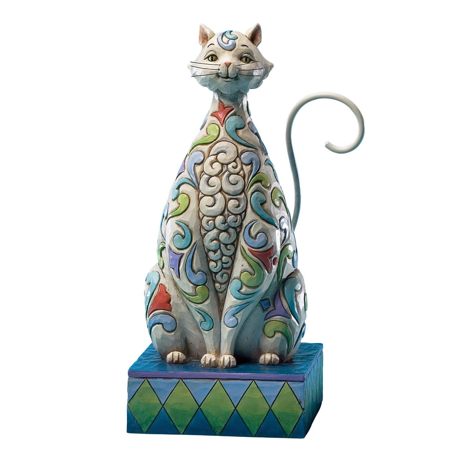 Jim Shore - Cat with Tulip Pattern Figurine