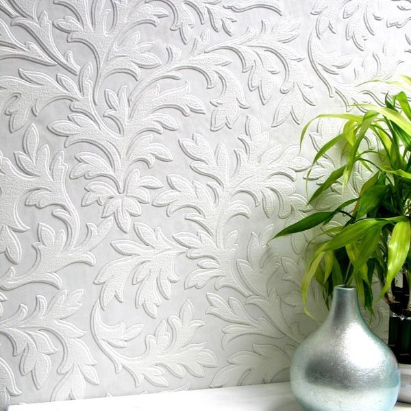high leaf paintable textured wallpaper designbrewster home