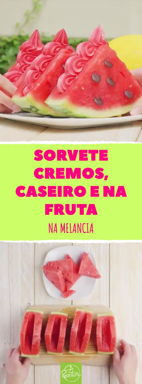sorvete de melancia caseiro, na fruta #sorvete #sorvetecaseiro #melancia #sobremesadeverao #sorvetedemelancia #sobremesa