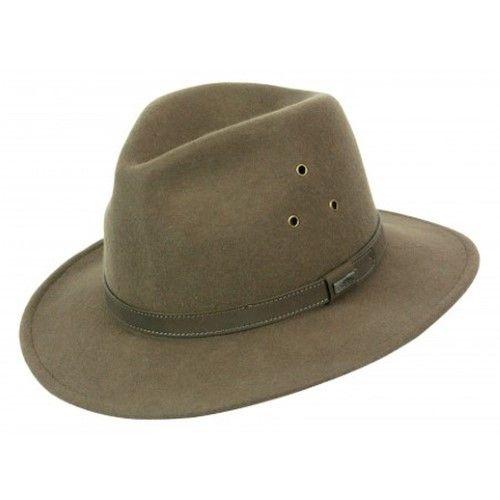 a7458f9d66b Conner Hats Men Breckenridge Wool Safari Hat M