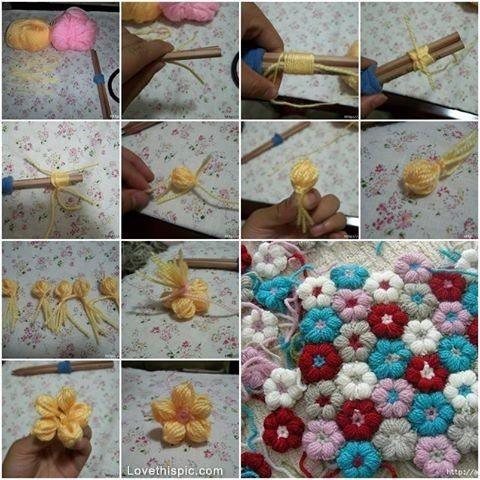 Diy yarn flowers you can use this for parties or on gifts party diy yarn flowers flowers diy crafts home made easy crafts craft idea crafts ideas diy ideas diy crafts diy idea do it yourself diy projects diy craft solutioingenieria Image collections