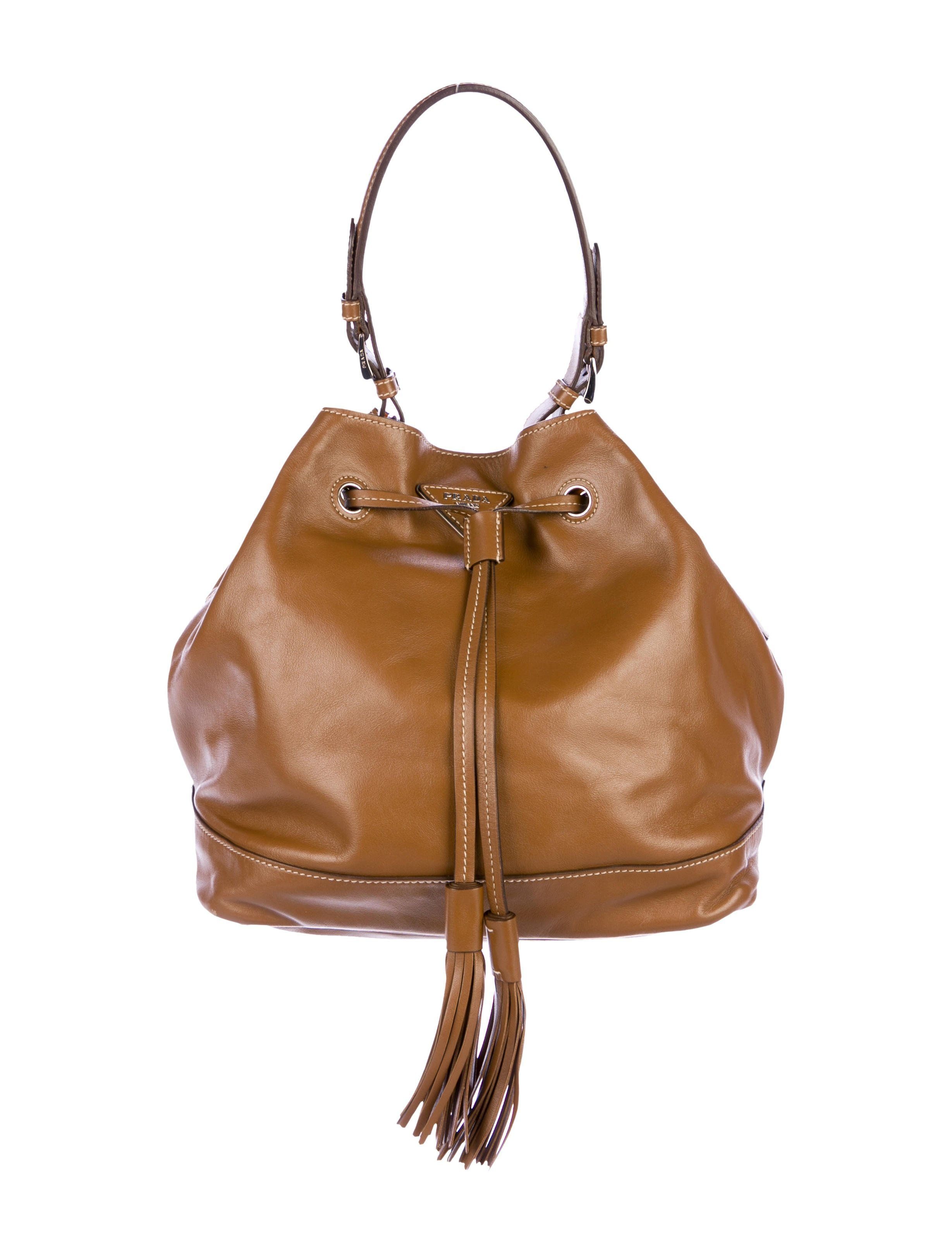 c5e0cdd9b766 Prada Soft Calf Bucket Bag - Handbags - PRA208922