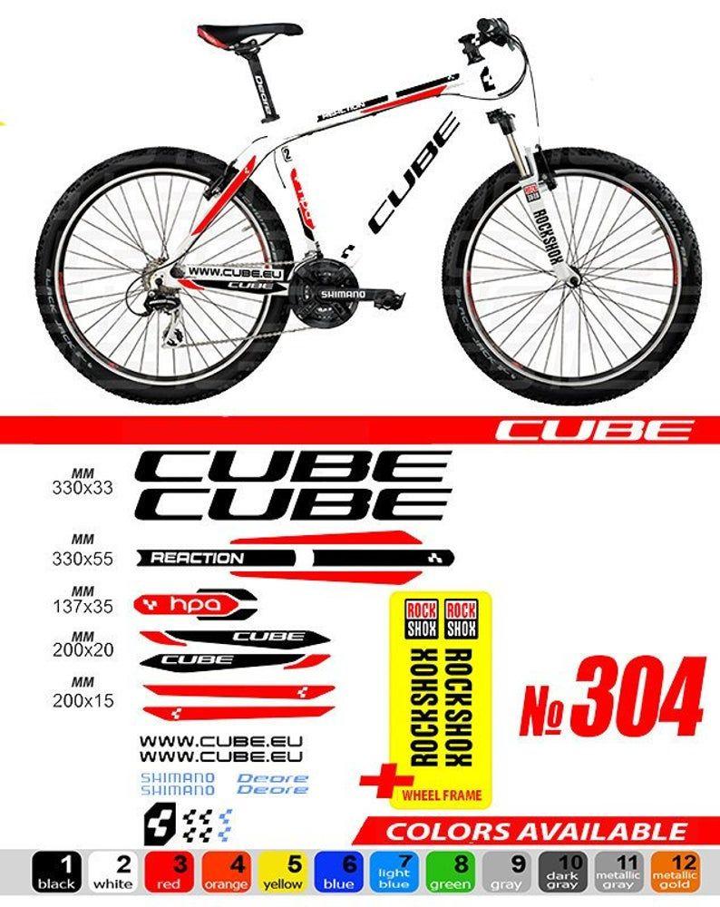 Merida Mountain Bicycle Frame Decals Stickers Graphic Adhesive Set Vinyl White