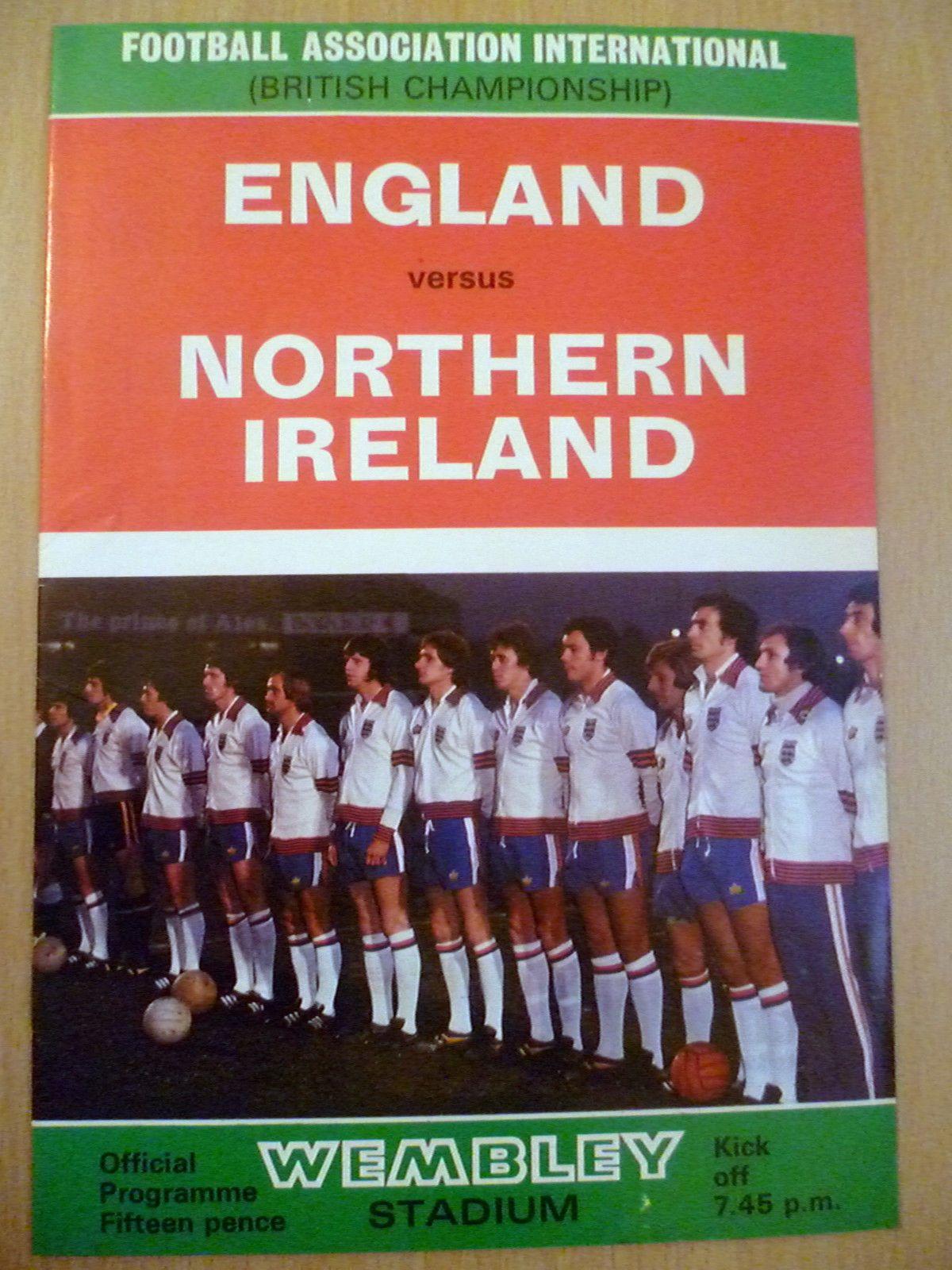 1976 British Championship ENGLAND v NORTHERN IRELAND 11 May   eBay