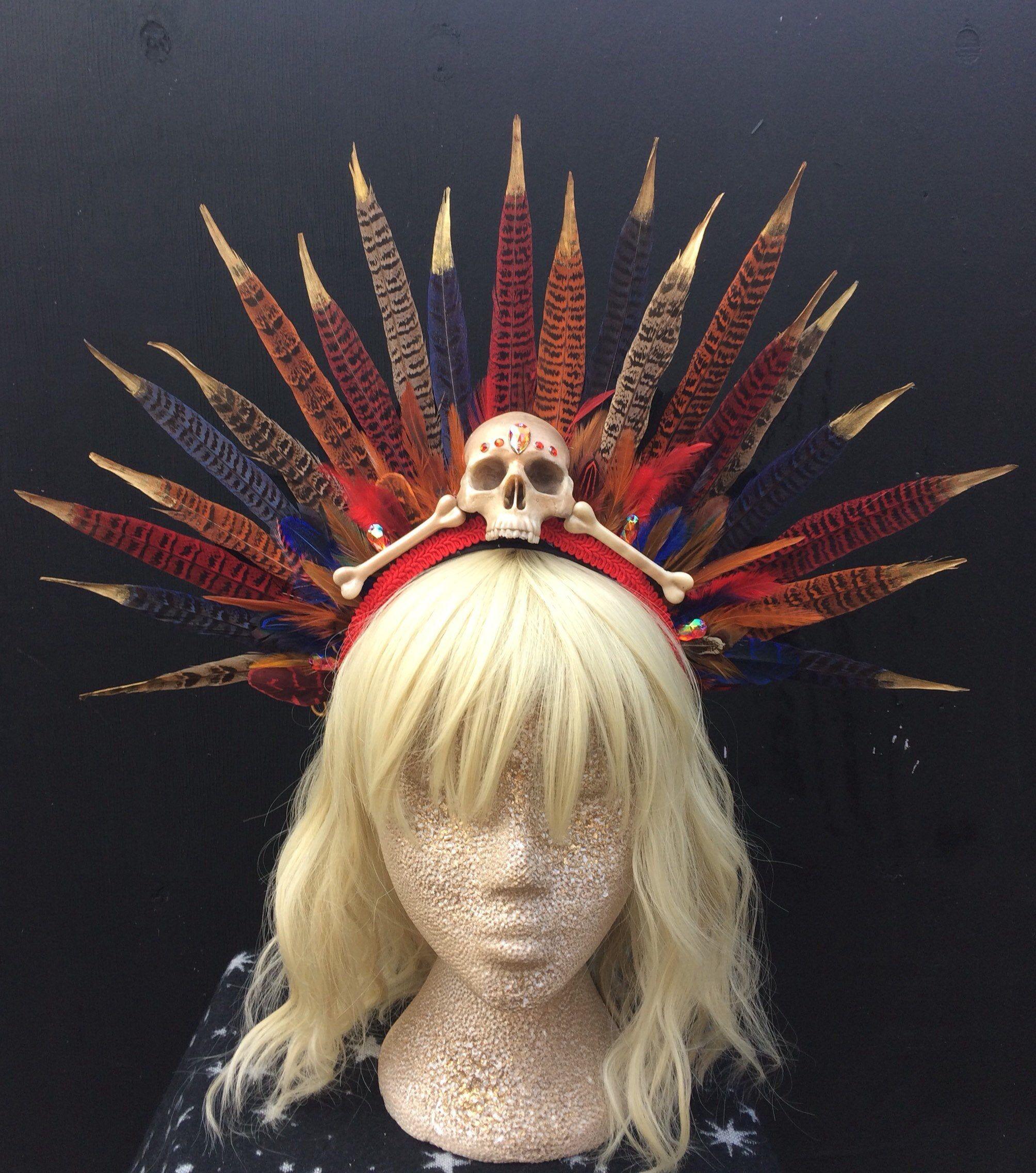 Voodoo Priestess Feather Headdress   Feather headdress