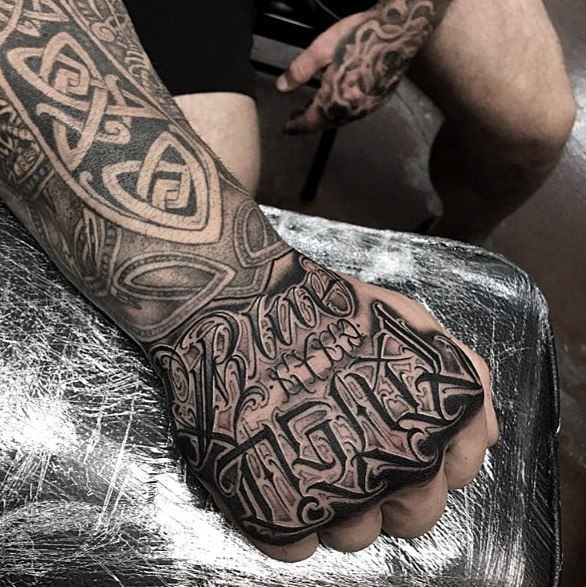 Criminal Lettering Tattoo Tattoo Lettering Hand Tattoos For