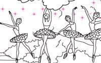Printable Barbie Pink Shoes Coloring Page 2