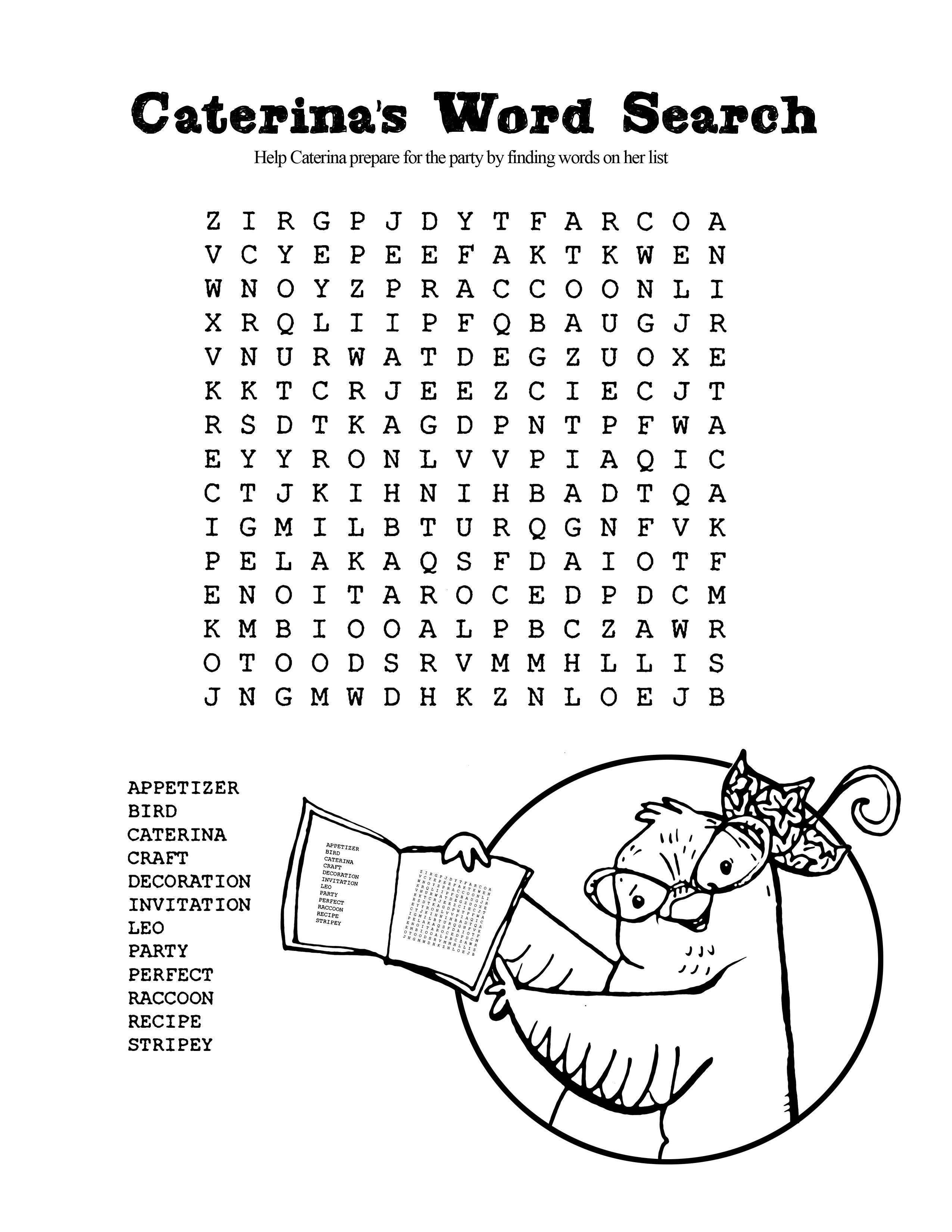 Caterina Word Puzzle For More Activities Visit Http Www Caterinascorne Kindergarten Worksheets Kindergarten Worksheets Free Printables Kids Math Worksheets [ 3300 x 2550 Pixel ]